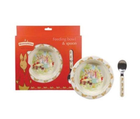 BUNNYKINS FEEDING BOWL & SPOON SET