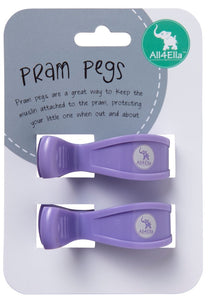 ALL4ELLA - PRAM PEGS PASTEL PURPLE