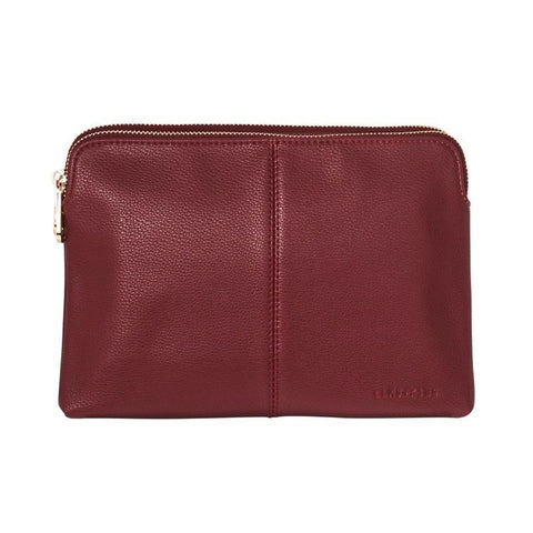 ELMS+KING DOUBLE BOWERY WALLET - MAROON