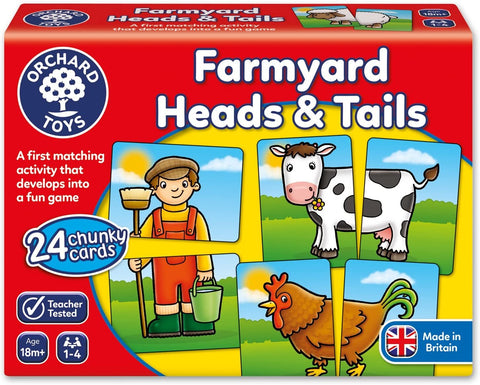 ORCHARD TOYS - FARMYARD HEADS & TAILS
