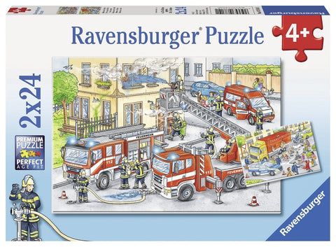RAVENSBURGER - HEROS IN ACTION 2X24PC PUZZLE