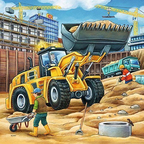 RAVENSBURGER - LARGE CONSTRUCTION VEHICLES 3X49PC PUZZLES