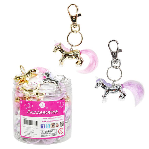 PINK POPPY - MAGICAL MOMENTS UNICORN KEYRING KYG001