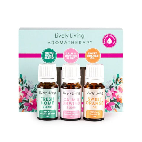 LIVELY LIVING - AROMATHERAPY HOME ESSENTIALS TRIO KIT