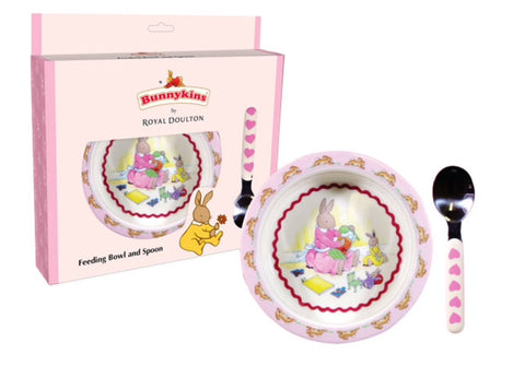 BUNNYKINS SWEETHEART BOWL & SPOON SET