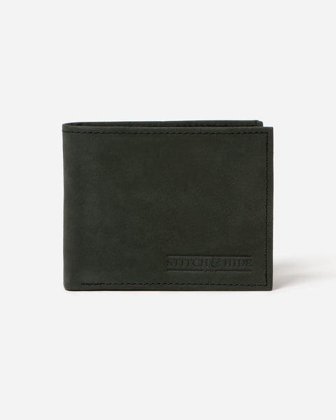 STITCH & HIDE - CASPER WALLET BLACK