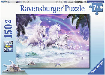 RAVENSBURGER - UNICORNS ON THE BEACH 150PC PUZZLE
