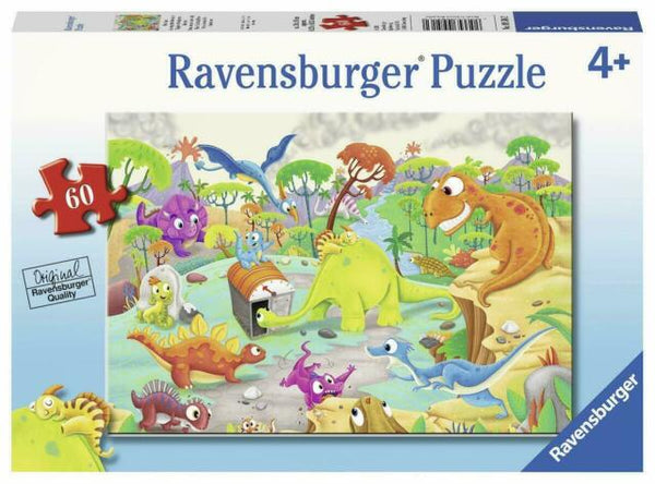 RAVENSBURGER - TIME TRAVELING DINOS 60PC PUZZLE