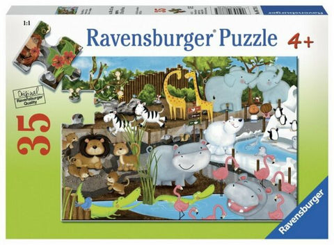 RAVENSBURGER - DAY AT THE ZOO 35PC PUZZLE