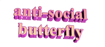 Anti-social Butterfly Temporary Tattoo