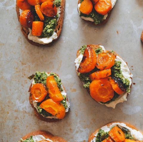 Goat Cheese and Moroccan Carrot Sandwich