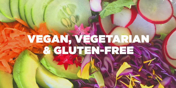 vegan, vegetarian and gluten-free