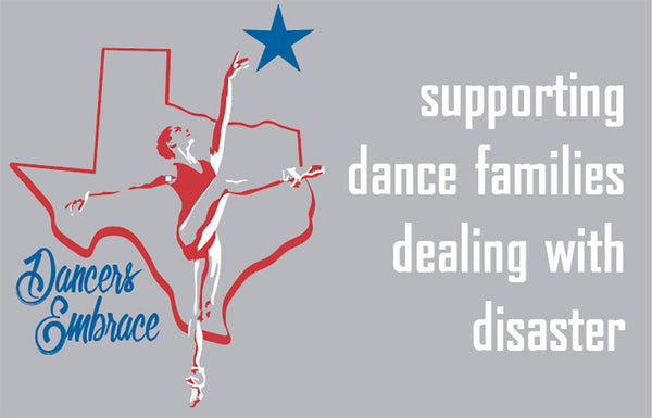 """Dancers Embrace"" Tee to Benefit Dancer Flood Victims of Hurricane Harvey."