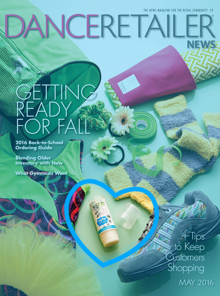 Relevé Relief and Barre Balm featured in Dance Retailer News