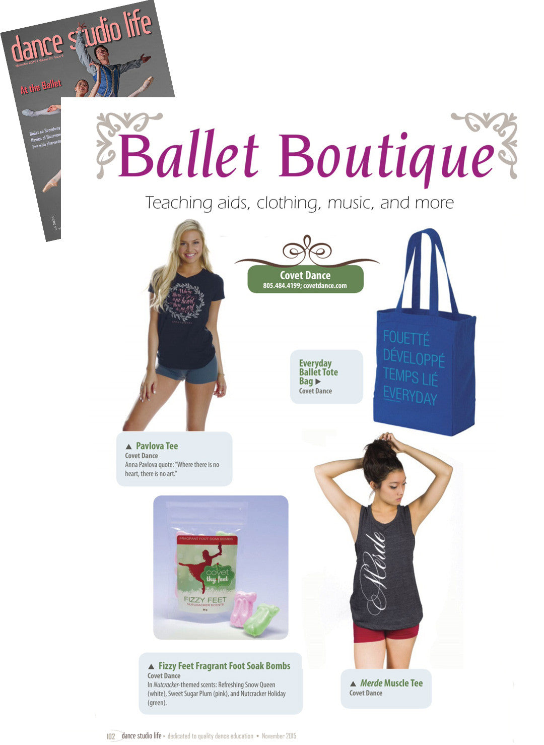 Dance Studio Life Features Covet Dance in their Ballet Boutique Editorial