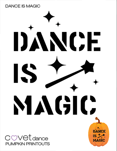 Dance Is Magic Pumpkin Template