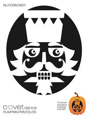 Nutcracker Halloween Pumpkin Carving Template