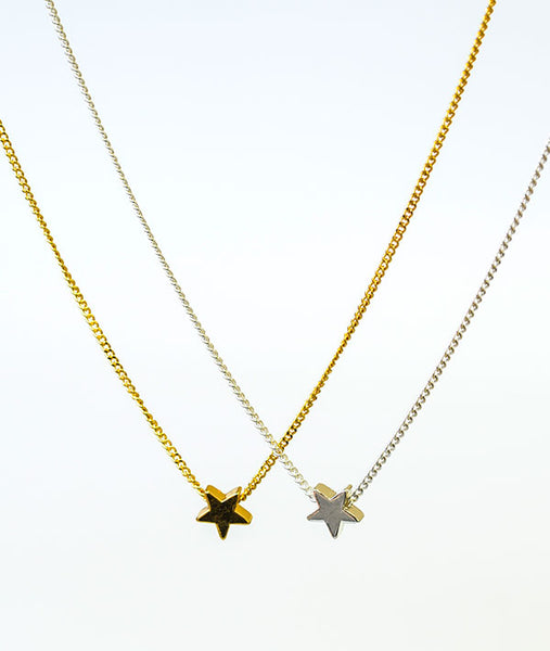Gold and Silver Star Necklaces