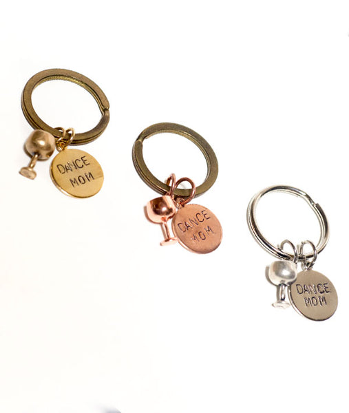 Dance Mom Key Chains with Wine Glasses