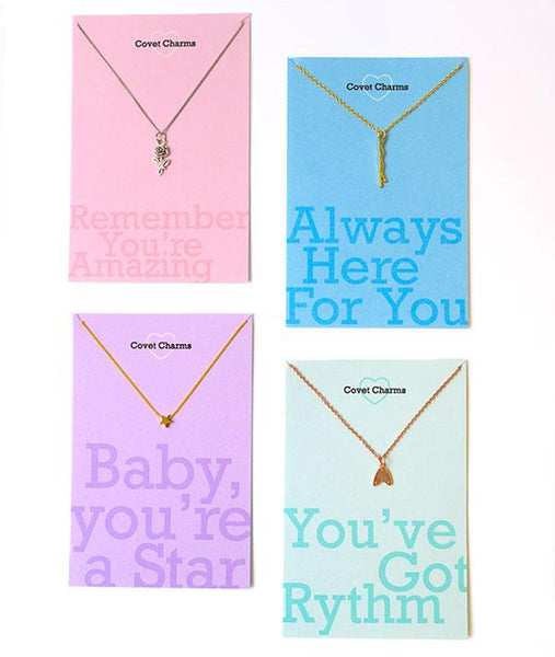 Covet Charms Necklace Message Card Gifts