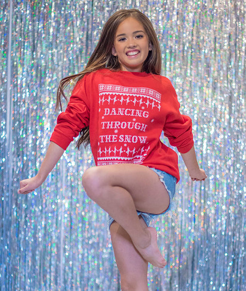 Dancing Through the Snow Youth Sweatshirt