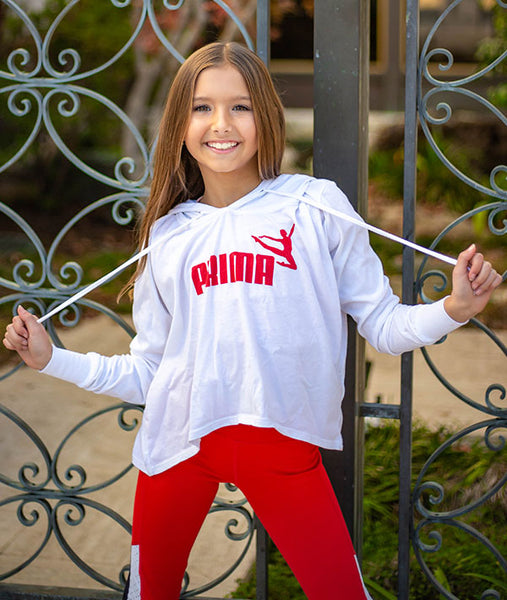 White Athletic Hoodie for Ballerinas