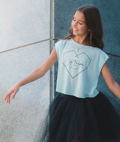 Bobby Pin Heart Crop Tee