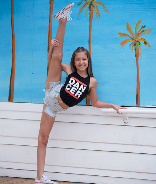 Crop Tank with throwback DANCER logo