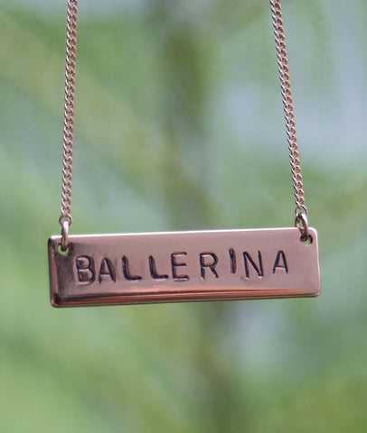 BALLERINA - Rose Gold Necklace