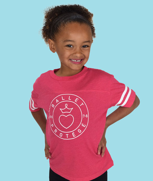 Cute ballet football tee for girls