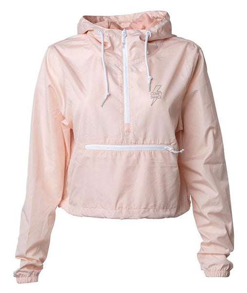 Covet Bolt Crop Windbreaker in Blush