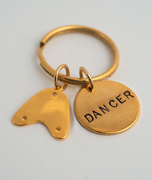 Gold Plated Tap Dancer Key Chain