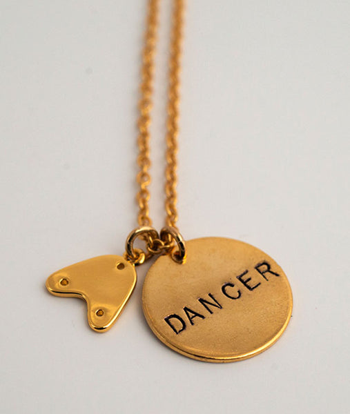 Gold-Plated Tap Dancer Necklace