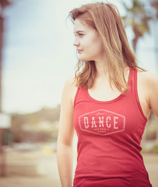 DANCE - NOT JUST A HOBBY racerback tank top