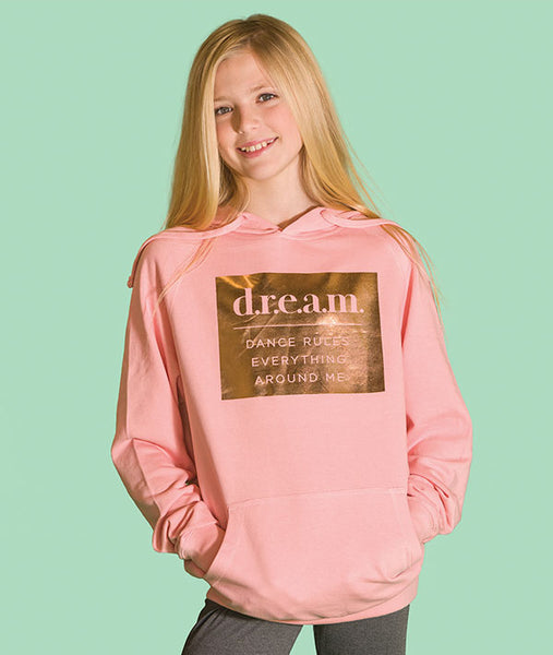 Dance Rules Everything Around Me hoodie in peach