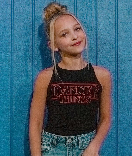 Dancer Things Crop Tank on Lilly K from Dance Moms
