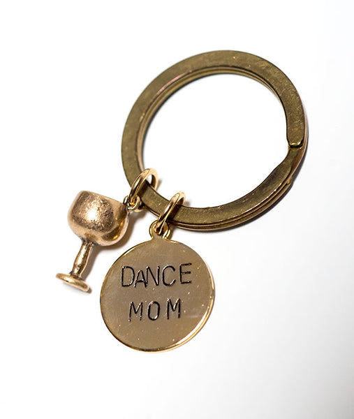 Gold-plated Dance Mom Keychain