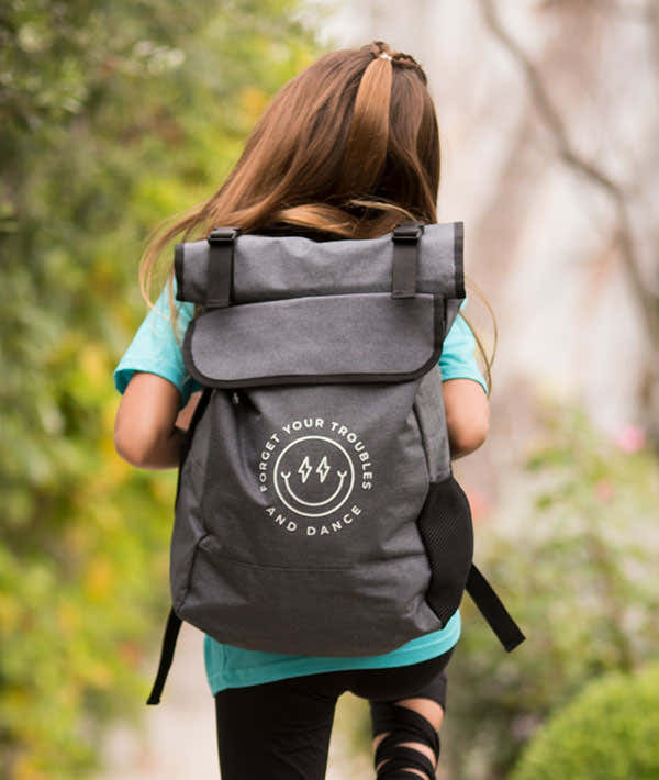 Forget Your Troubles and Dance - Roll-Top Backpack 1