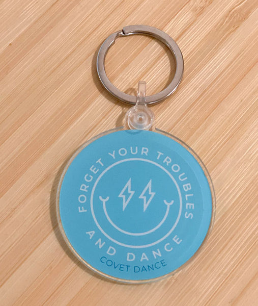 Forget Your Troubles and Dance Keychain makes a great dancer gift!