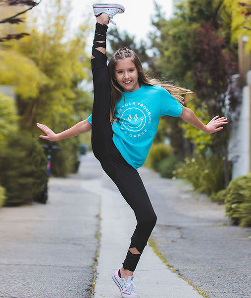 Forget Your Troubles and Dance Tee with High Kick
