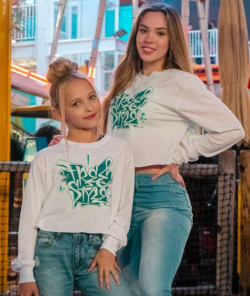 Lilly K from Dance Moms and Jade in our Crop Freestyle T-Shirt