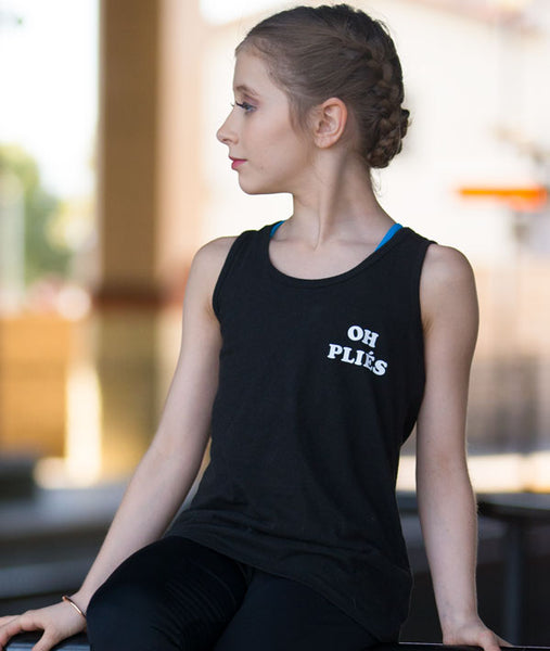 Youth Ballet Tank in Black