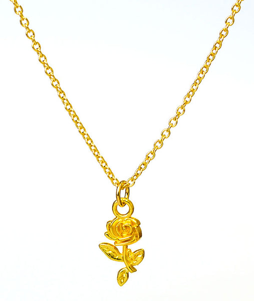 Recital Rose Necklace - Gold Plated