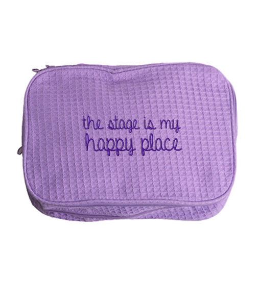 The Stage is My Happy Place - cosmetic bag
