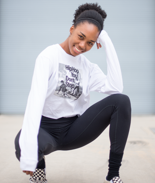Hip Hop and You Don't Stop long sleeve cropped tee