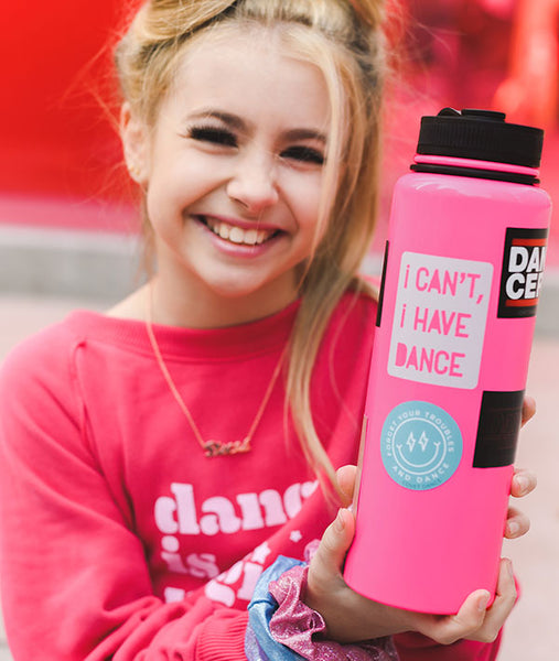 Decorate your flask with fun dance stickers