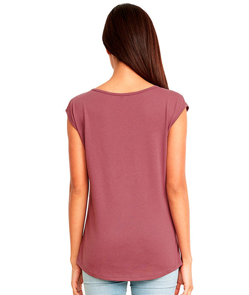 Back of sleeveless v-neck tee