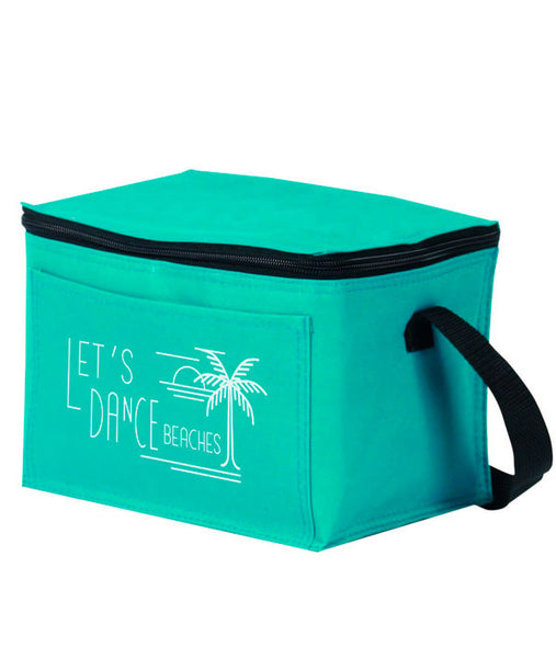 Let's Dance Beaches - teal lunch cooler