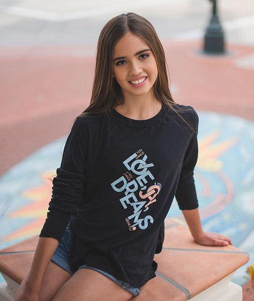 Love Joy Dreams Long Sleeve Side Slit Tee