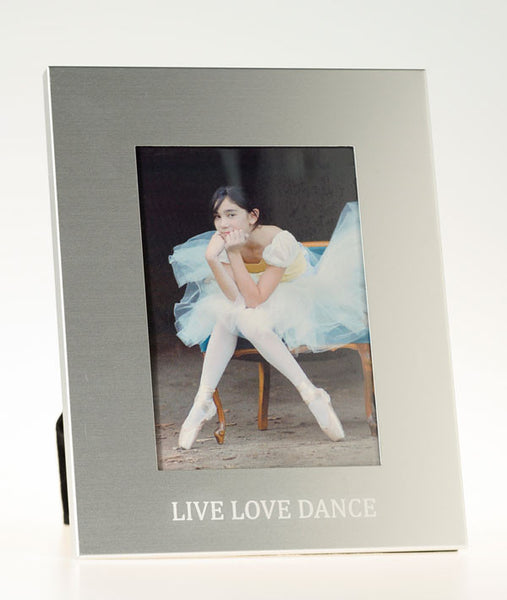 LIVE LOVE DANCE metal photo frame